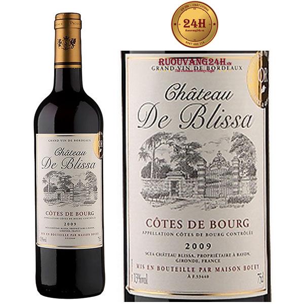 Rượu Vang Chateau De Blissa