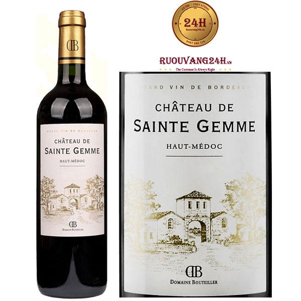 Rượu Vang Chateau De Sainte Gemme Haut Medoc Cru Bourgeois