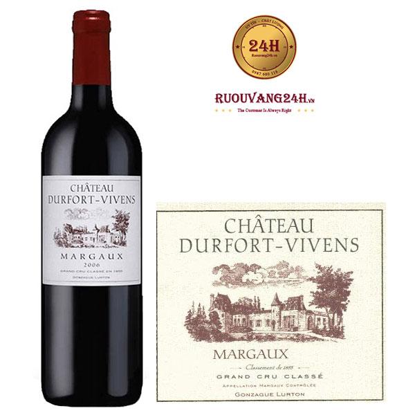 Rượu Vang Chateau Durfort Vivens 2nd Grand Cru Classe Margaux