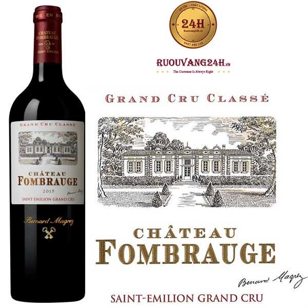 Rượu Vang Chateau Fombrauge Grand Cru Classe