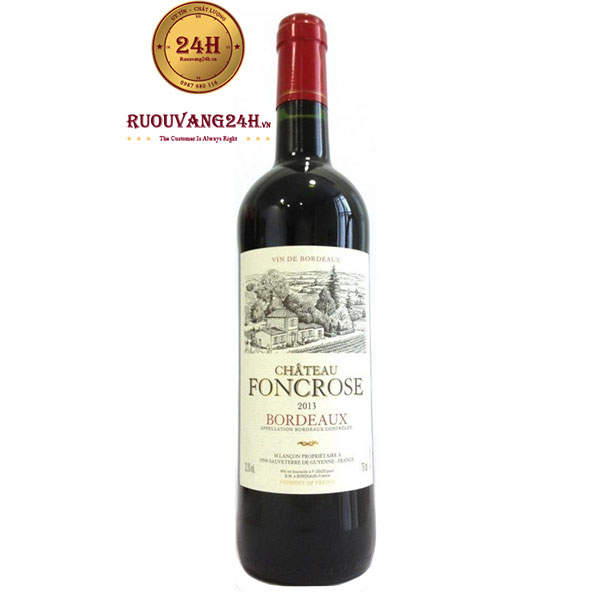 Rượu Vang Chateau Foncrose Bordeaux