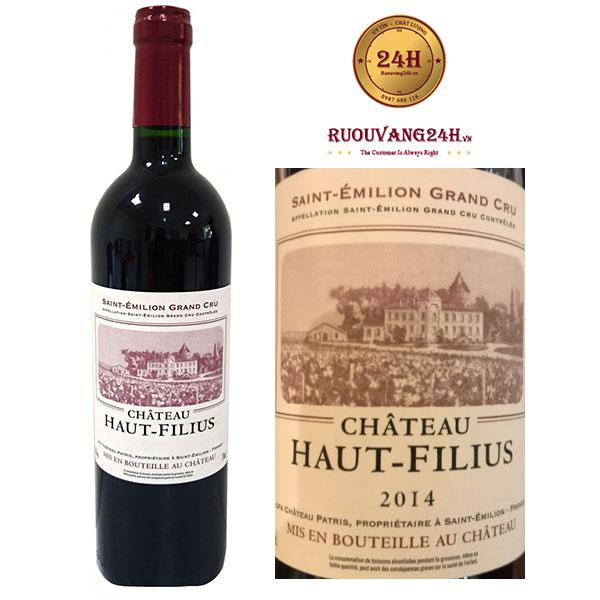 Rượu Vang Chateau Haut Filius Grand Cru