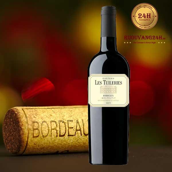 Rượu Vang Chateau Les Tuileries Aoc Bordeaux Rouge