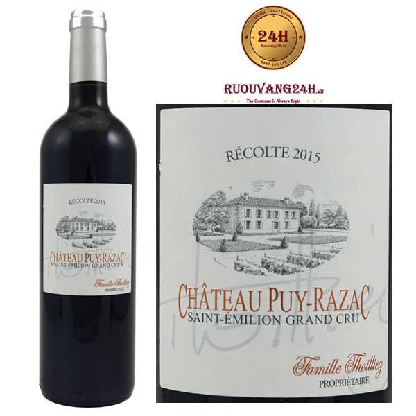 Rượu Vang Chateau Puy Razac Grand Cru