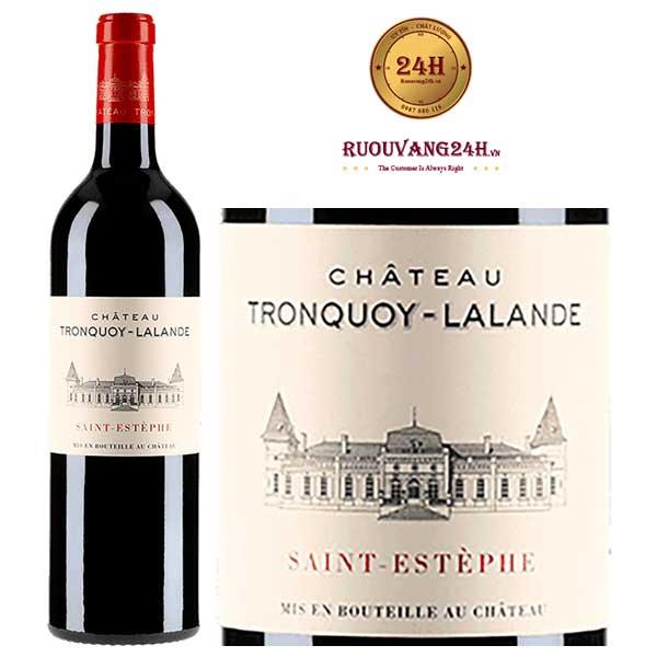 Rượu Vang Chateau Tronquoy Lalande