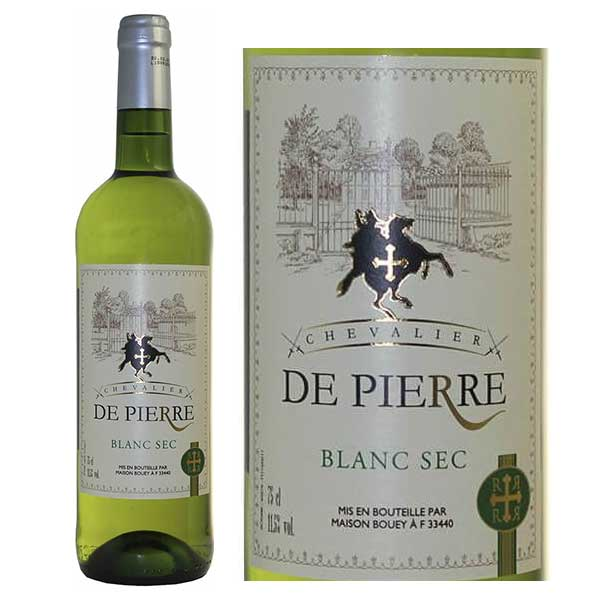 Rượu Vang Chevalier De Pierre Blanc Sec