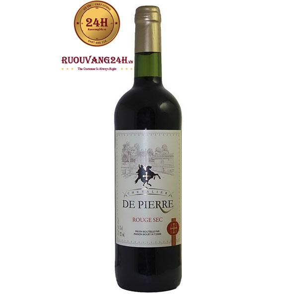 Rượu Vang Chevalier De Pierre Rouge Sec