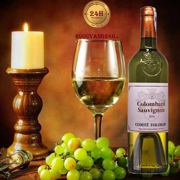 Rượu Vang Colombard Sauvignon Comte Tolosan