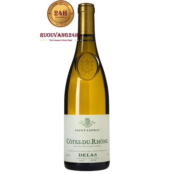 Rượu Vang Cotes du Rhone Delas Saint Esprit White