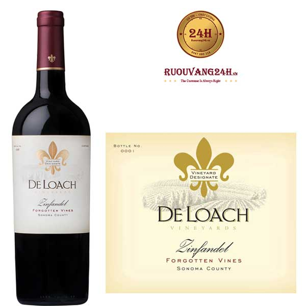 Rượu Vang DeLoach Forgotten Vines Zinfandel