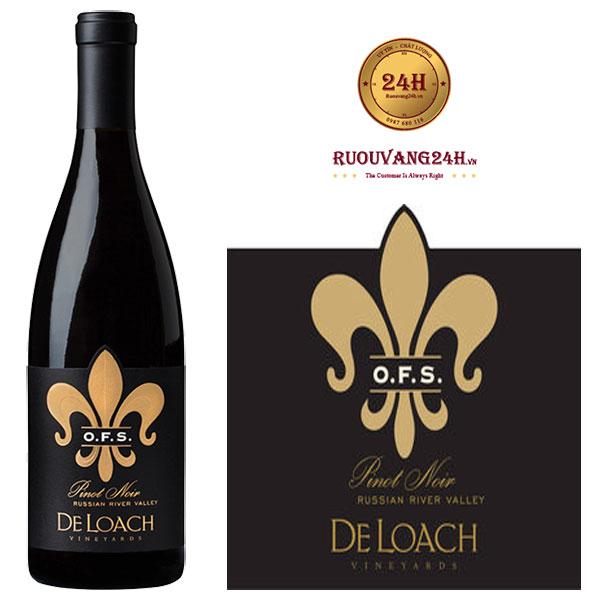 Rượu Vang DeLoach Pinot Noir OFS Tier
