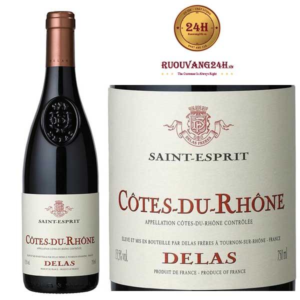 Rượu Vang Delas Saint Esprit Cote Du Rhone