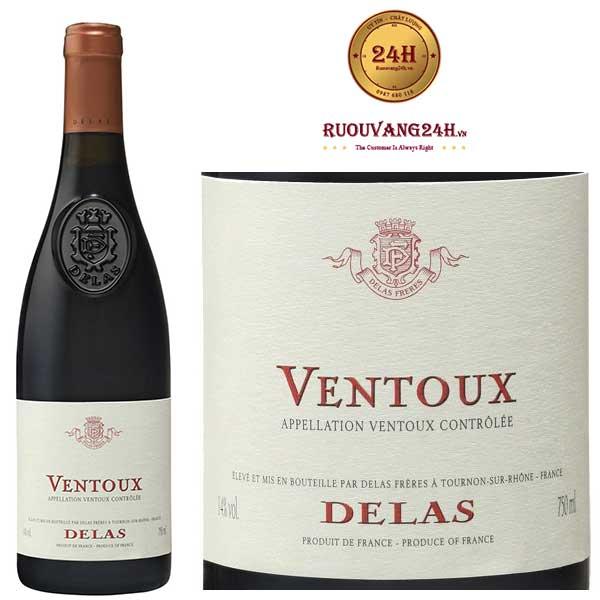 Rượu Vang Delas Ventoux Grenache Syrah