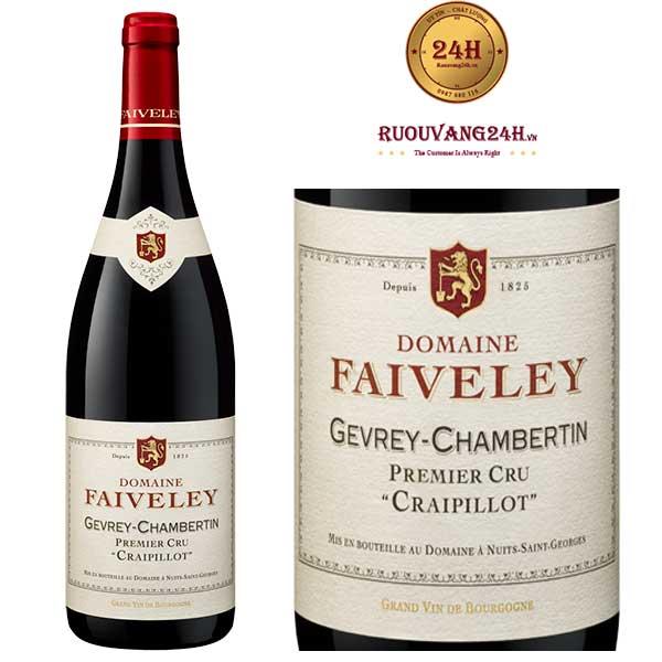 Rượu Vang Domaine Faiveley Gevrey Chambertin Premier Cru Craipillot