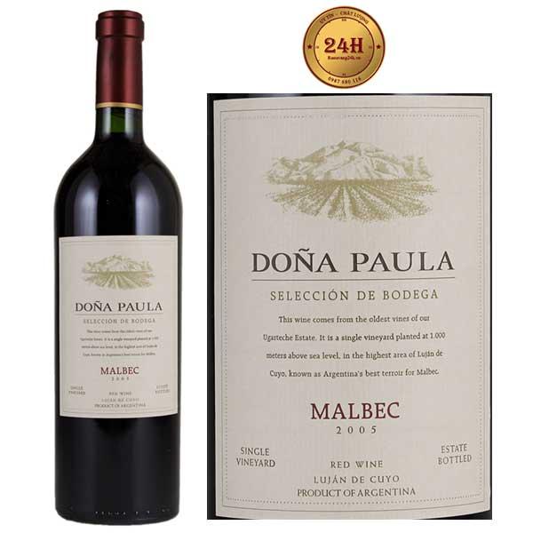 Rượu Vang Dona Paula Seleccion de Bodega Malbec