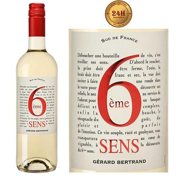 Rượu Vang Gerard Bertrand 6eme Sens White