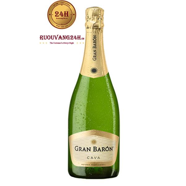 Rượu Champagne Gran Baron Cava Semi Seco