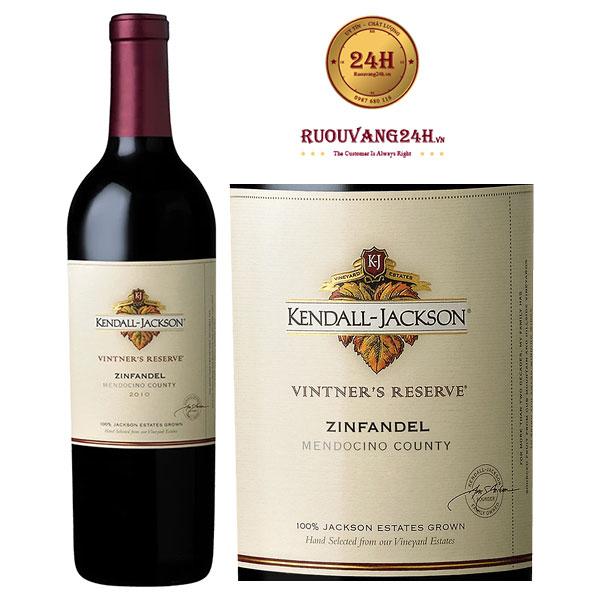 Rượu Vang Kendall Jackson Vintners Reserve Zinfandel Mendocino