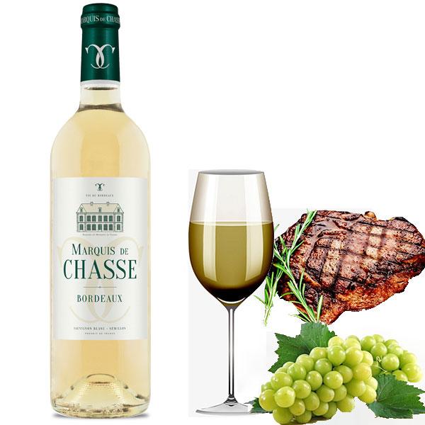 Rượu Vang Marquis de Chasse white Bordeaux