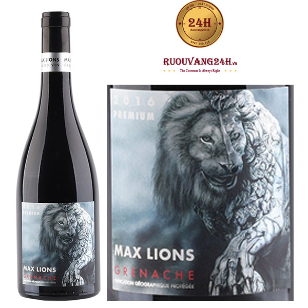 Rượu Vang Max Lions Grenache Pays D'oc ( IGP)