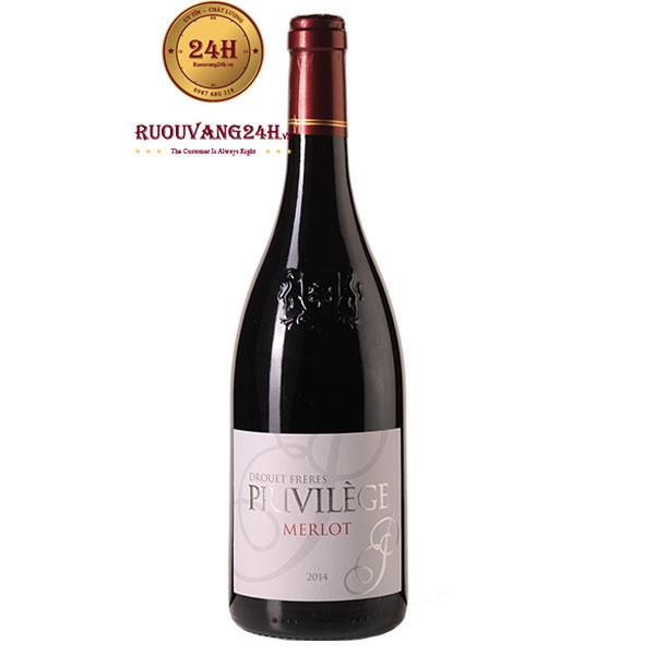 Rượu Vang Privilege de Drouet Merlot