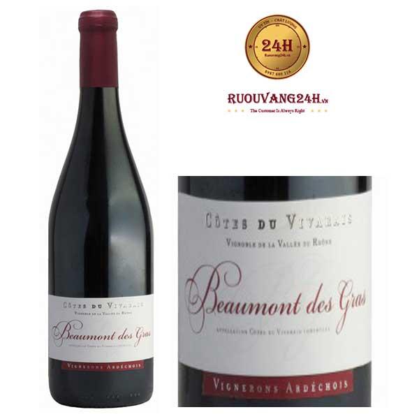 Rượu Vang Beaumont Des Gras Syrah Grenache