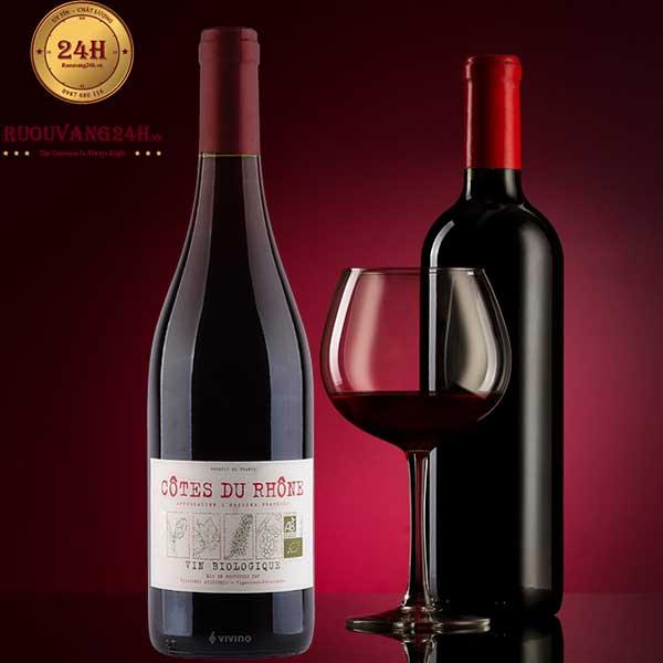 Rượu Vang Vignerons Ardechois Cotes du Rhone Biologique