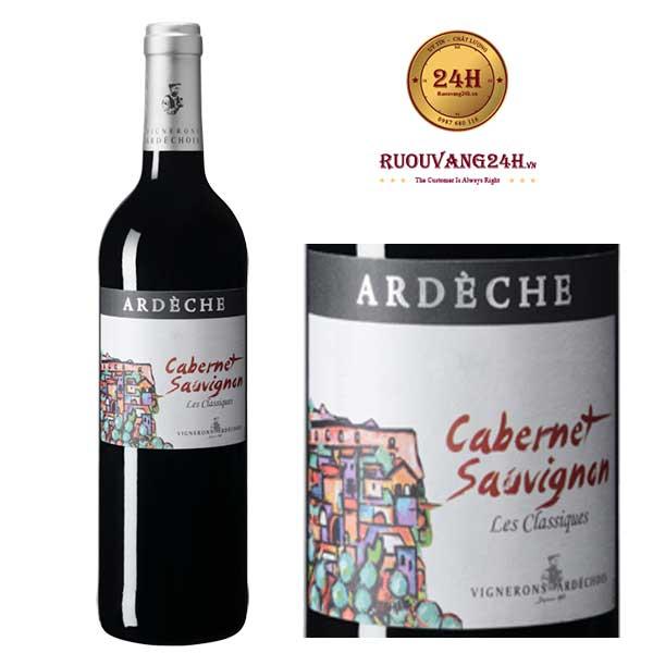 Rượu Vang Vignerons Ardechois Les Classiques Cabernet Sauvignon
