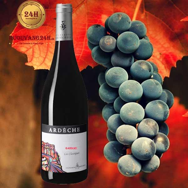 Rượu Vang Vignerons Ardechois Les Classiques Gamay
