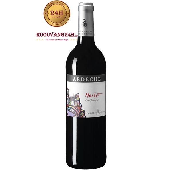 Rượu Vang Vignerons Ardechois Les Classiques Merlot