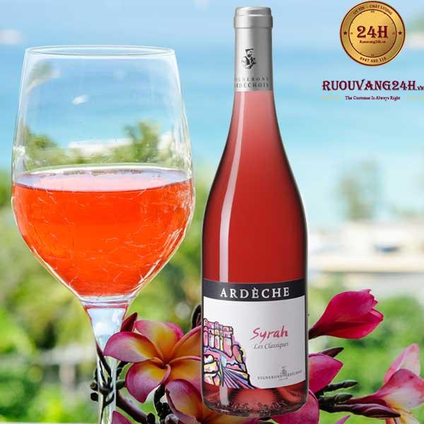 Rượu Vang Vignerons Ardechois Les Classiques Syrah Rose