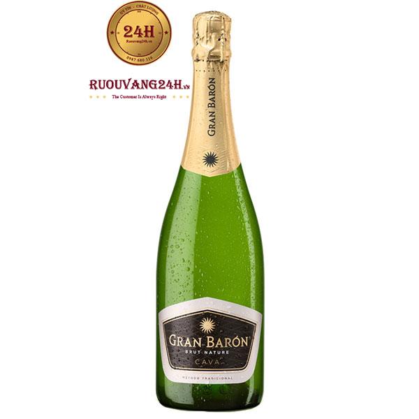 Rượu Vang Sủi Bọt Gran Baron Brut Nature Cava