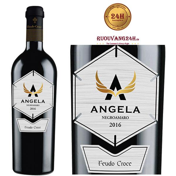 Rượu vang Angela Negroamaro Manduria Tinazzi