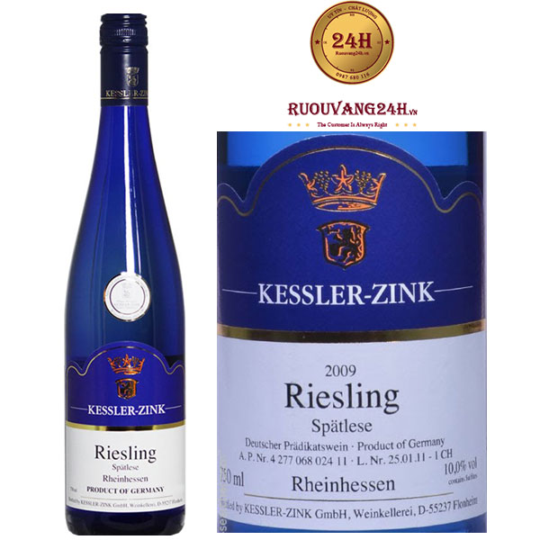 Rượu vang Auslese Riesling Sweet Wine Blue Edition