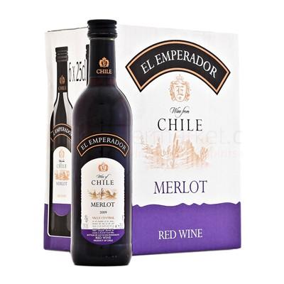 Rượu vang Bịch Chile EL Emperador Merlot