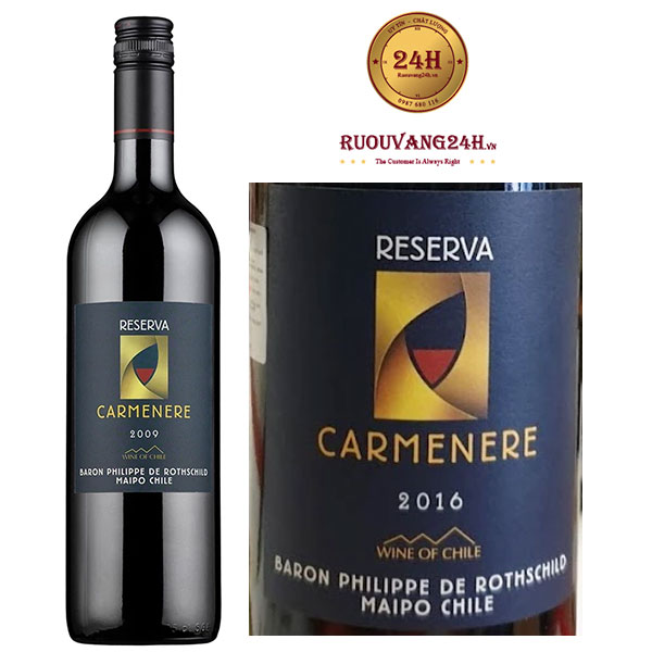Rượu vang Baron Philippe de Rothschild - Reserva Carmenere