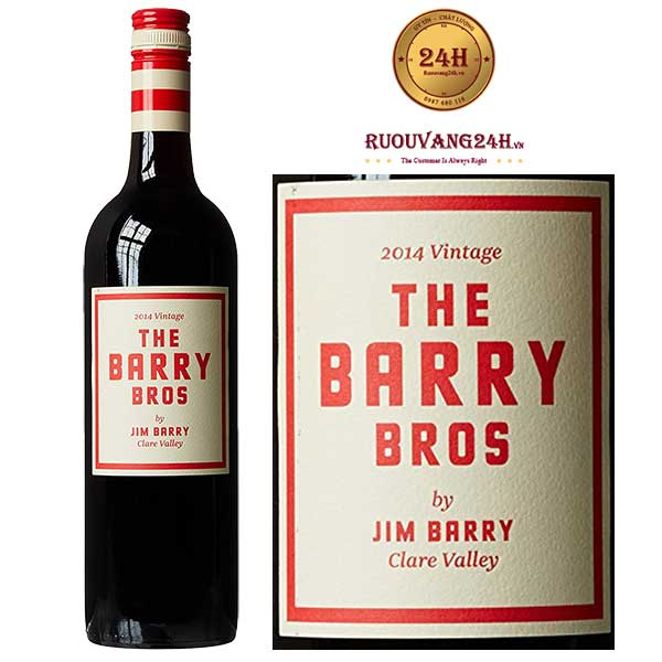 Rượu vang Barry Bros Shiraz – Cabernet Sauvignon