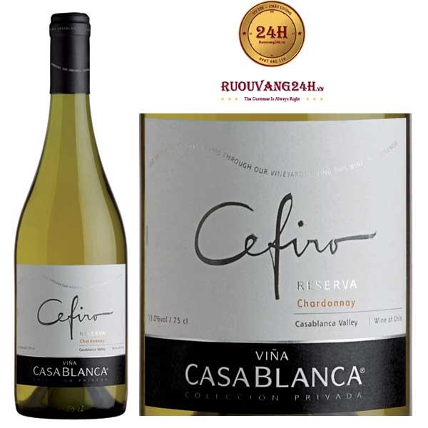 Rượu vang Casablanca Cefiro Reserva Chardonnay