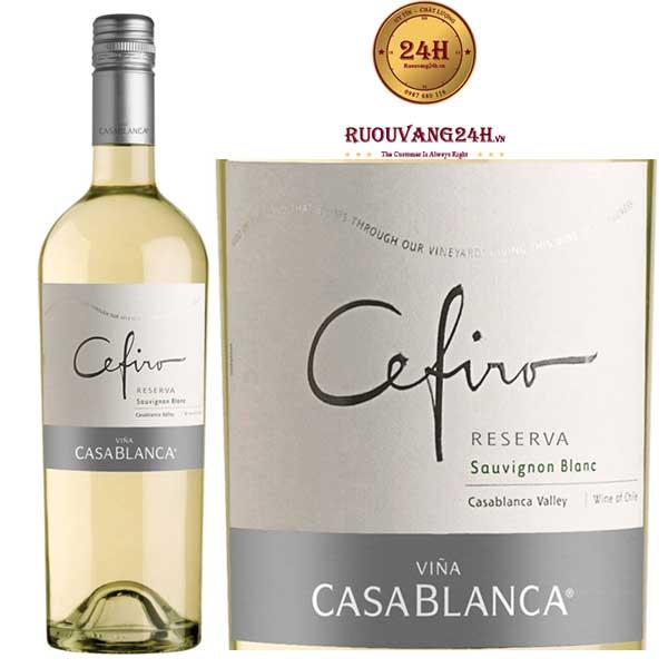 Rượu vang Cefiro Reserva Sauvignon Blanc