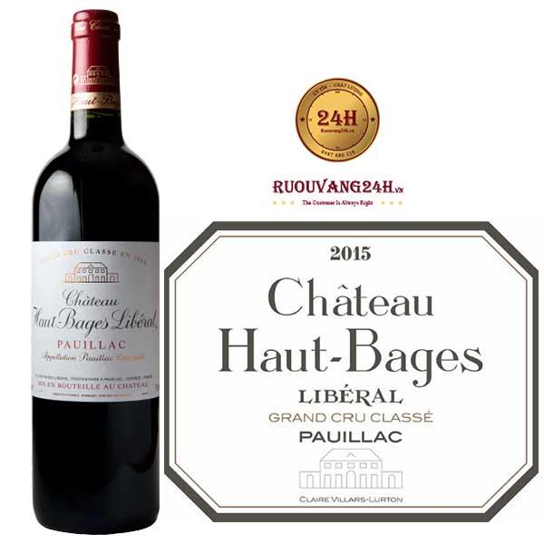 Rượu Vang Château Haut Bages Liberal Grand Cru