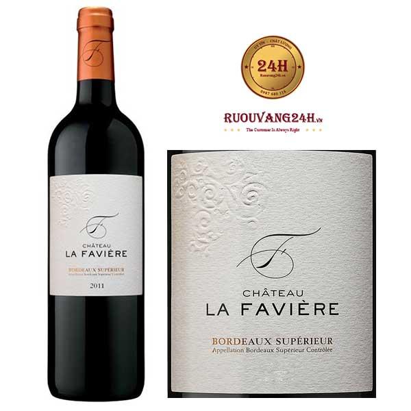 Rượu vang Château La Faviere Bordeaux Superieur