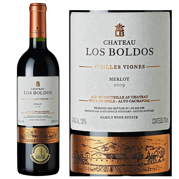 Rượu vang Château Los Boldos Merlot Vielles Vignes