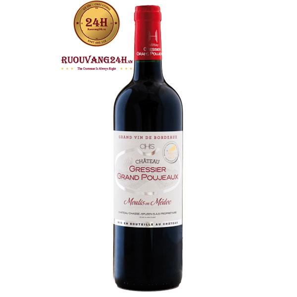 Rượu Vang Chateau Gressier Grand Poujeaux Moulis En Medoc