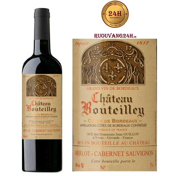 Rượu vang Chateau Bouteilley Premieres Cotes de Bordeaux