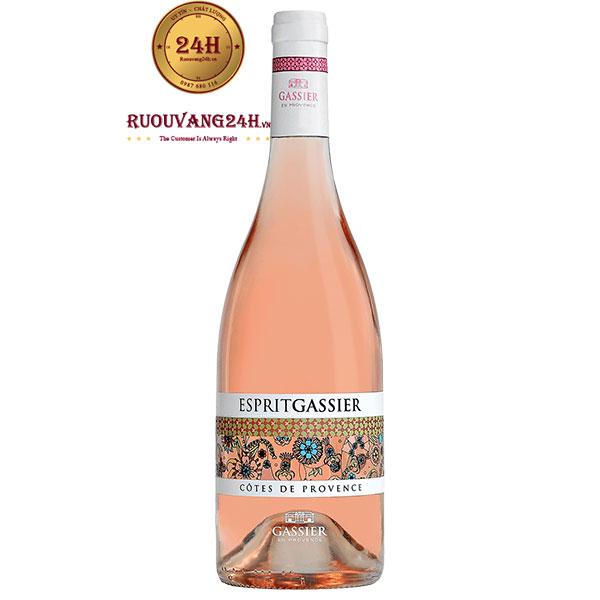 Rượu Vang Esprit Gassier Cote De Provence Rose