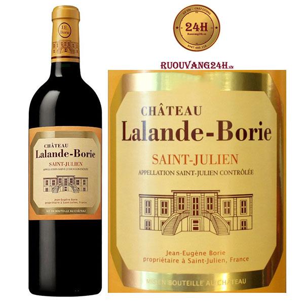 Rượu vang Chateau Lalande Borie Saint Julien