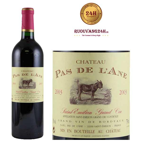 Rượu vang Chateau Pas De L'Ane Grand Cru