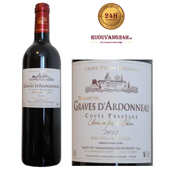 Rượu Vang Domaine Des Graves D'Ardonneau Cuvee Prestige