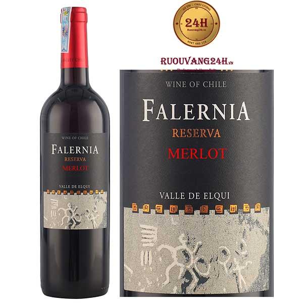 Rượu vang Falernia Merlot Reserva