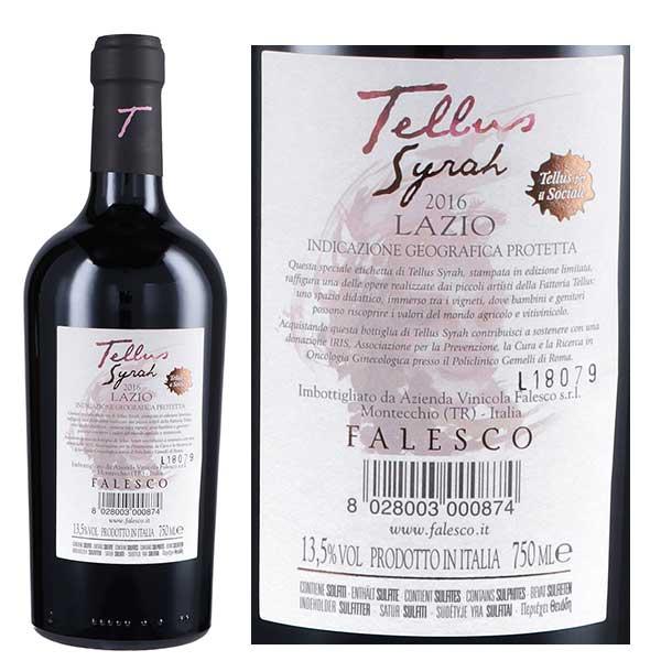 Rượu vang Falesco Tellus Syrah Lazio IGP